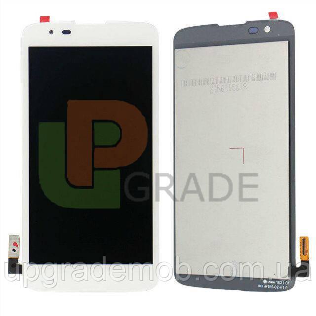 Дисплей LG K330 K7 (M1)/MS330 K7/LS675 Tribute 5 версия 4G/LTE тачскрин сенсор белый оригинал