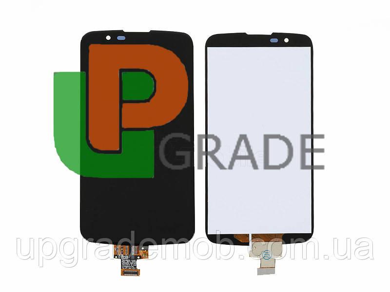 Дисплей LG K410 K10 Dual Sim/K420N/K430DS с тачскрином модуль сенсор, черный, без микросхемы, оригинал