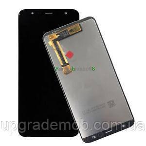 Дисплей Samsung J415F Galaxy J4+ 2018/J610F Galaxy J6+ тачскрин сенсор черный оригинал переклеено стекло