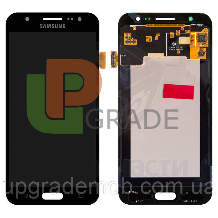 Дисплей Samsung J500H Galaxy J5 тачскрин сенсор, черный, OLED, копия хорошего качества