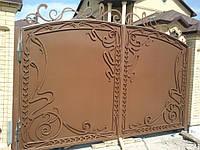 Кованые ворота с калиткой. Эксклюзивная ручная ковка.