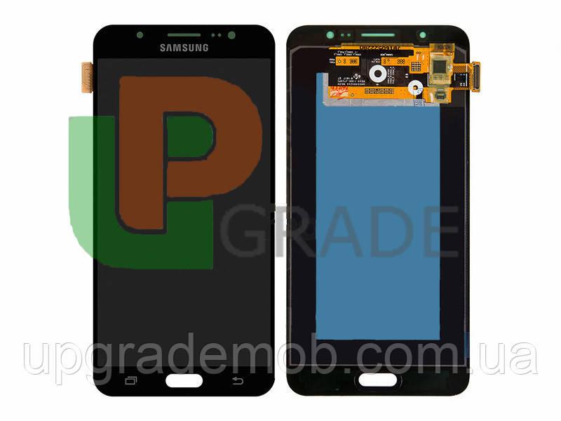 Дисплей Samsung J710F Galaxy J7 2016 тачскрин сенсор, черный, TFT, копия
