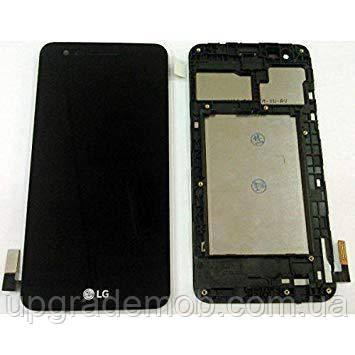 Дисплей LG X230 K7 2017 с тачскрином модуль сенсор, черный, в рамке, оригинал