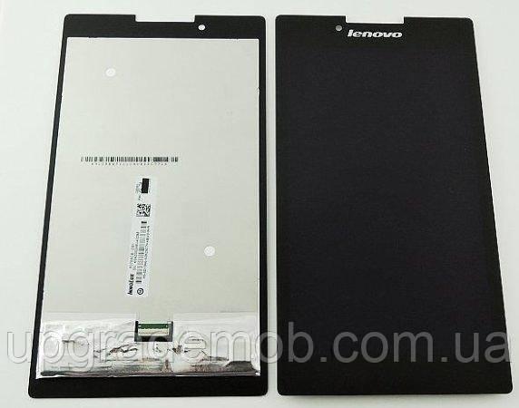 Дисплей Lenovo A7-30 Tab 2/A7-30DC/A7-30F с тачскрином модуль сенсор, черный, с зеленым шлейфом