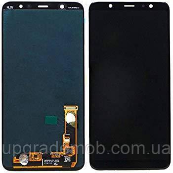 Дисплей Samsung J810F Galaxy J8 2018/J800F/Galaxy On8 2018 тачскрин сенсор черный Amoled оригинал