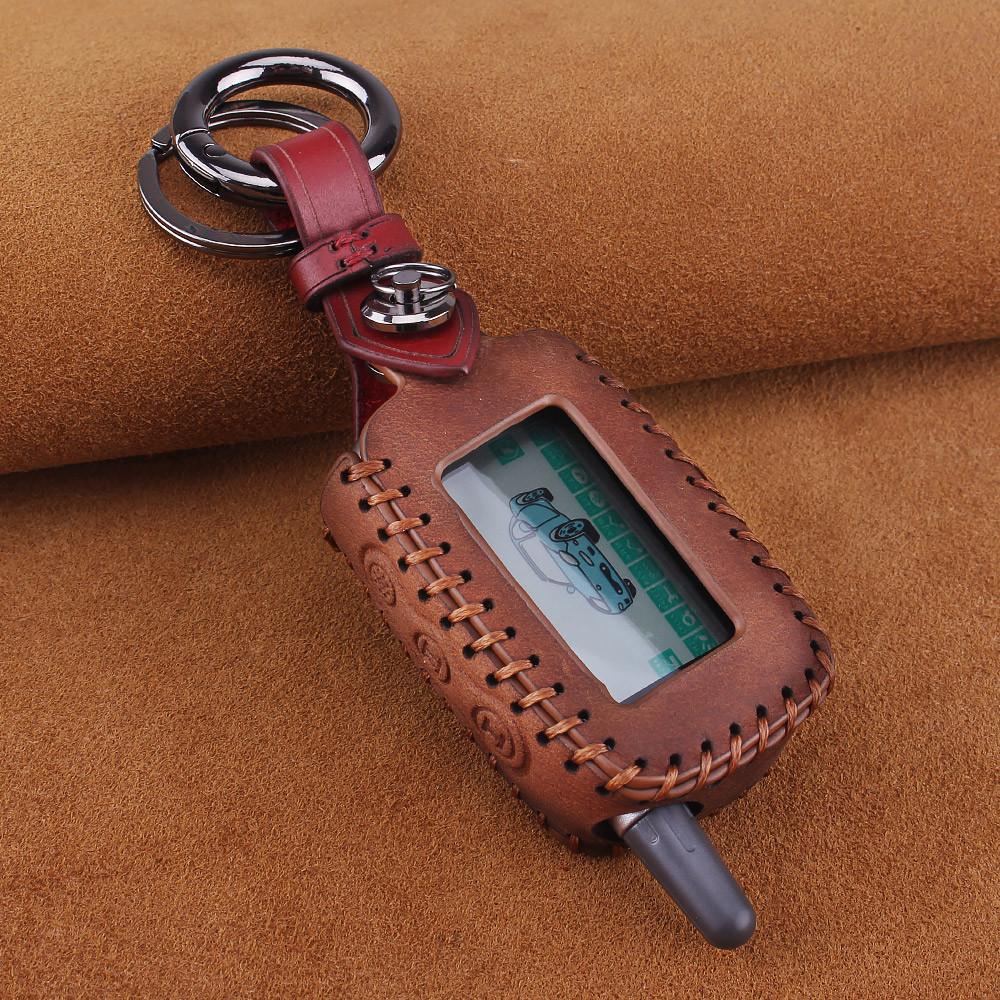 Премиальный кожаный защитный чехол для сигнализации Starline A6/A9