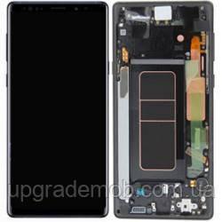 Дисплей Samsung N960F Galaxy Note 9 с тачскрином модуль сенсор, черный, в рамке, Midnight Black, Amoled,
