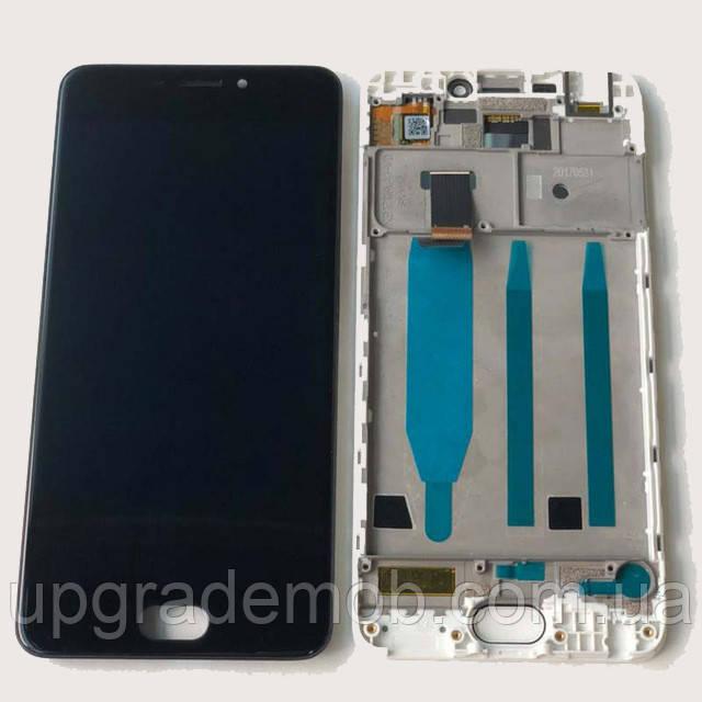 Дисплей Meizu M6 M711 с тачскрином модуль сенсор, черный, в рамке