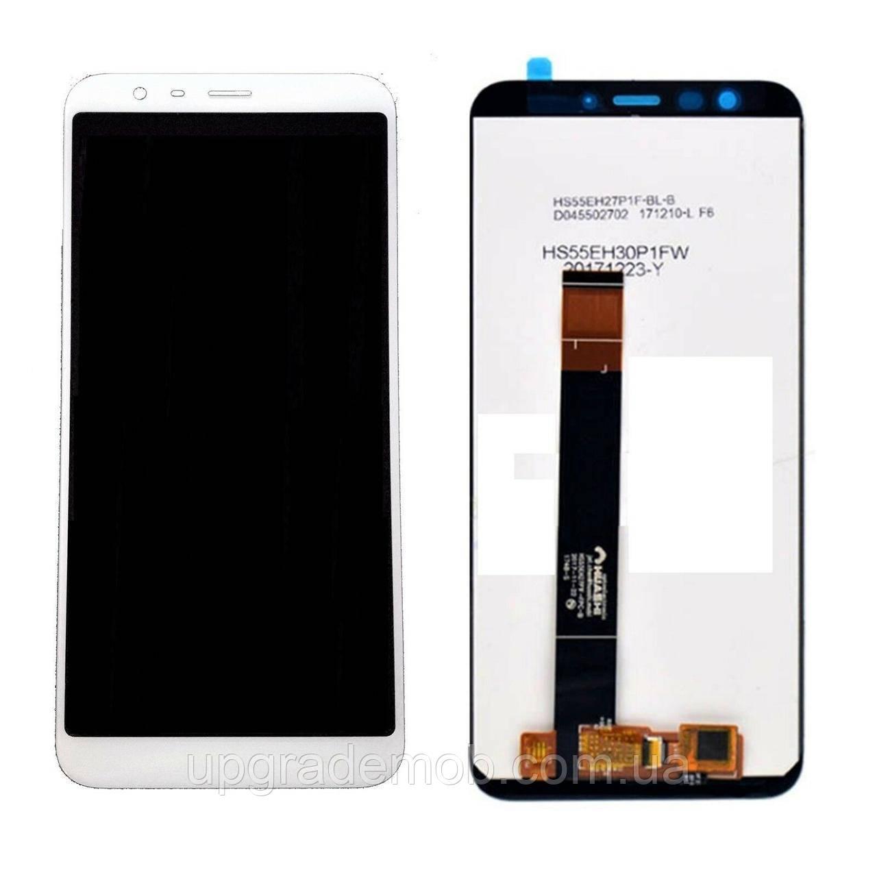 Дисплей Meizu M8c M810/M8c Lite M809 тачскрин модуль белый оригинал