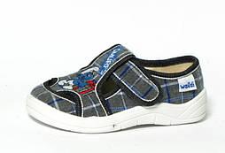 Текстильные тапочки WALDI Миша Смурфи. Размеры 24-30