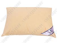 Подушка Merkys 70x70 Mickrofibre топленое молоко со съемной стеганой наволочкой