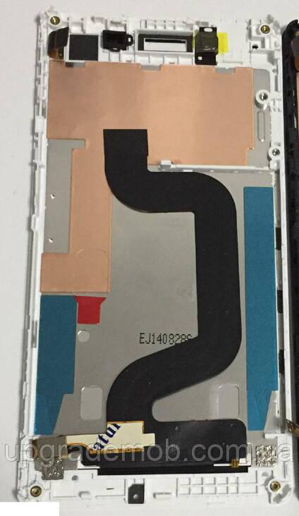 Дисплей Sony D2202 Xperia E3/D2203/D2206 тачскрин сенсор, белый, в рамке, оригинал
