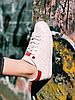 Кроссовки белые с красным задником Адидас Стэн Смит