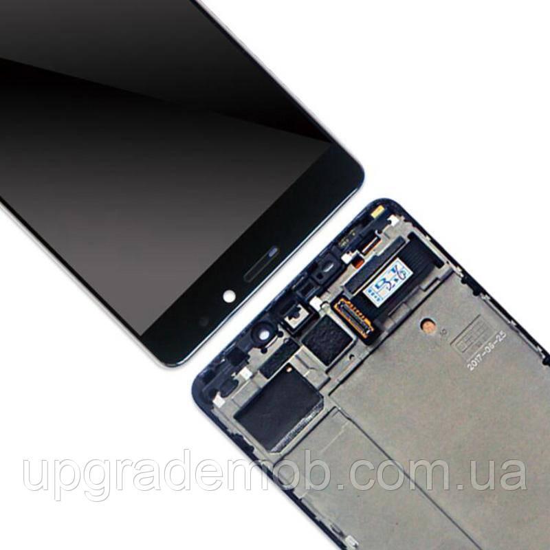 Дисплей Meizu Pro 7 M792 тачскрин сенсор, черный, в рамке, TFT, копия
