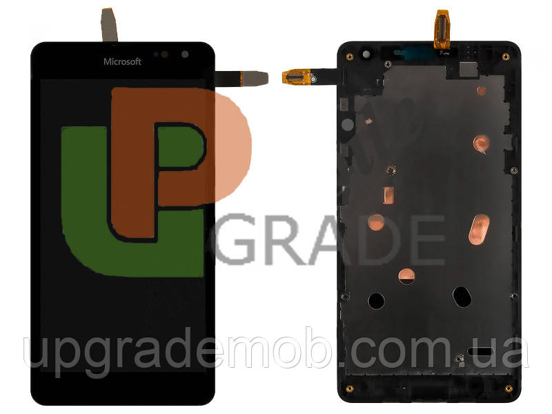 Дисплей Microsoft 535 Lumia Dual Sim тачскрин модуль p/n : CT2C1607FPC-A1-E черный в рамке оригинал