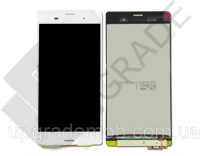 Дисплей Sony D6603 Xperia Z3/D6633/D6643/D6653 тачскрин сенсор белый