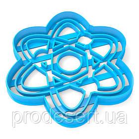 Вырубка для пряников Атом 11*9 см (3D)