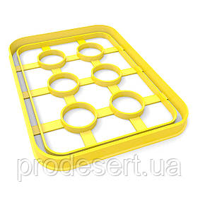 Вырубка для пряников Таблетки 13*9,5 см (3D)