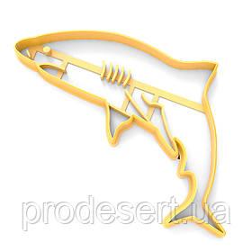 Вирубка для пряників Акула 9*14 см (3D)