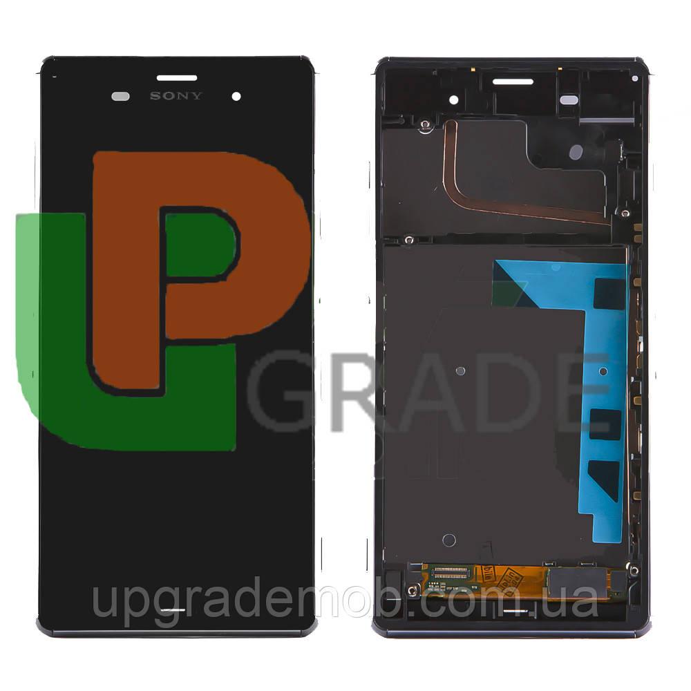 Дисплей Sony D6603 Xperia Z3/D6643/D6653 тачскрин сенсор модуль, черный, в рамке, оригинал