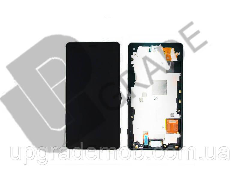 Дисплей Sony D6633 Xperia Z3 Dual с тачскрином модуль сенсор, черный, в рамке, оригинал