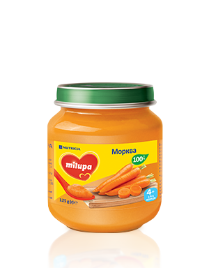 Пюре Milupa  Морква  125 гр от 6 мес