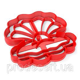 Вирубка для пряників Перлина 9*9 см (3D)