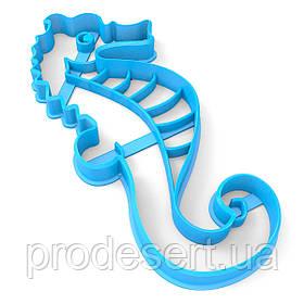 Вирубка для пряників Морський коник 13*5,5 см (3D)