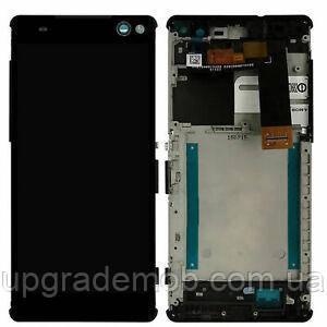 Дисплей Sony E5506 Xperia C5 Ultra/E5533/E5553/E5563 тачскрин модуль черный в рамке оригинал