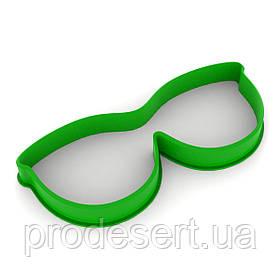 Вирубка для пряників Очки 4*10 см (3D)