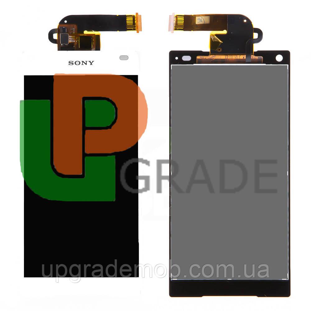 Дисплей Sony E5803 Xperia Z5 Compact/E5823 тачскрин сенсор, белый