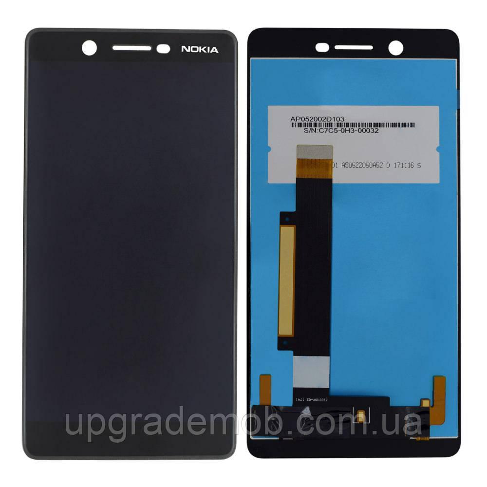 Дисплей Nokia 7 тачскрин модуль черный оригинал