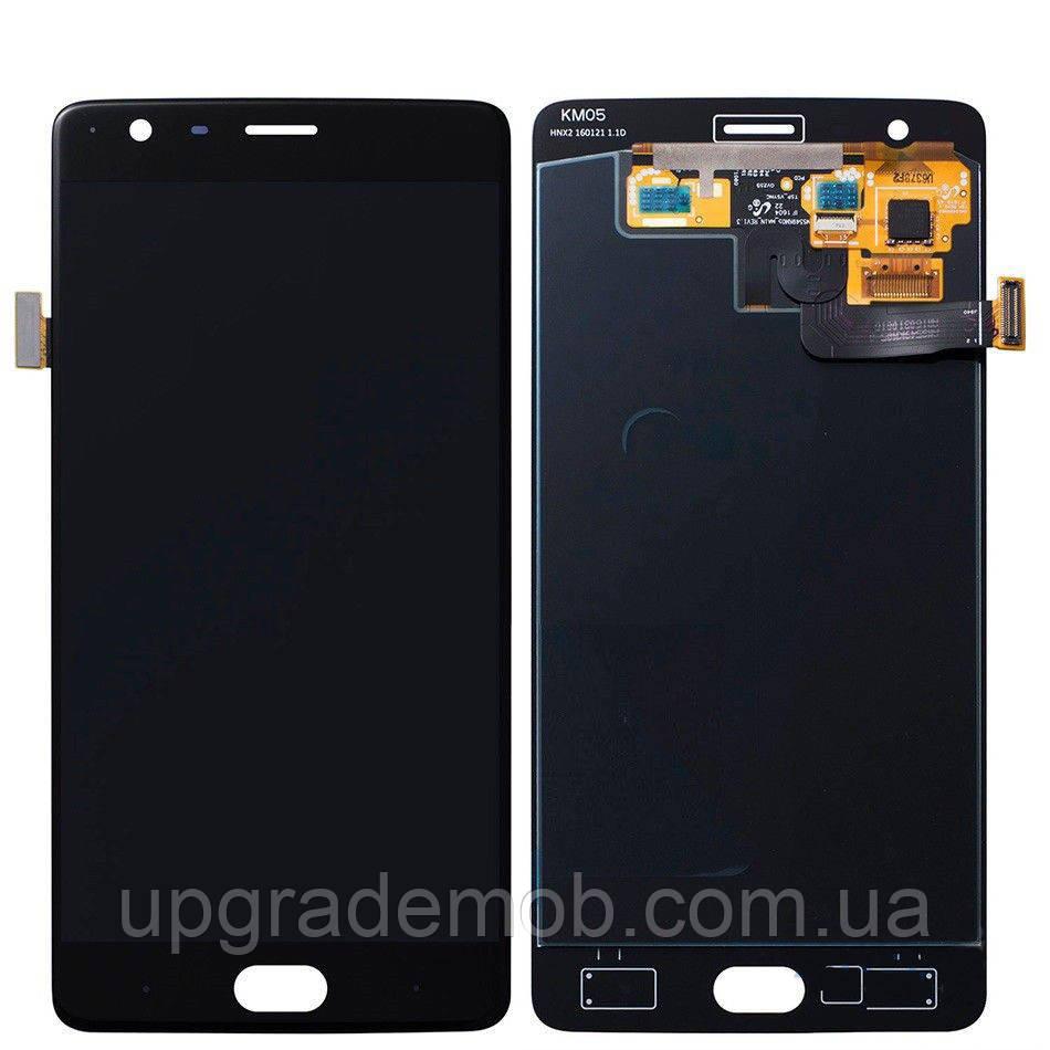 Дисплей OnePlus 3 A3003/3T A3010 с тачскрином модуль сенсор, черный, OLED, копия хорошего качества