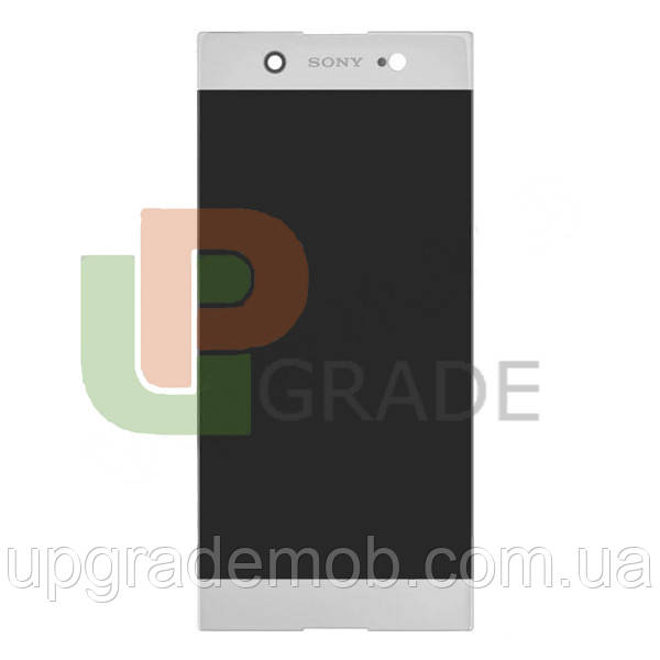 Дисплей Sony G3212 Xperia XA1 Ultra Dual/G3221/G3223/G3226 с тачскрином модуль сенсор, белый, оригинал