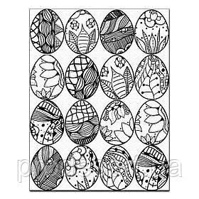 Пасхальные яйца расписные для пряников 6*5 вафельная картинка