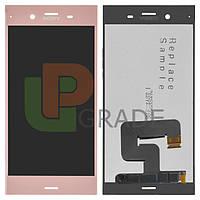 Дисплей Sony G8441 Xperia XZ1 Compact с тачскрином модуль сенсор, розовый, Twilight Pink, оригинал