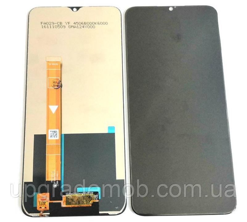 Дисплей Realme C3 тачскрин сенсор черный оригинал