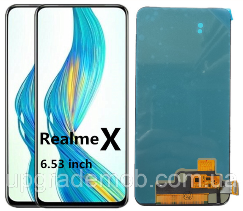 Дисплей Realme X/Oppo Reno2 Z тачскрин сенсор, черный, Amoled, оригинал