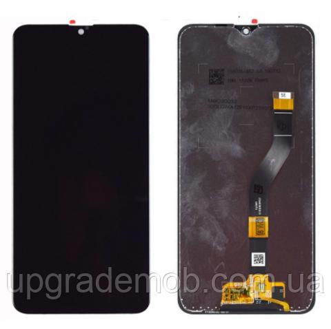 Дисплей Samsung A107F Galaxy A10s 2019 тачскрин сенсор модуль, черный, оригинал , переклеено стекло