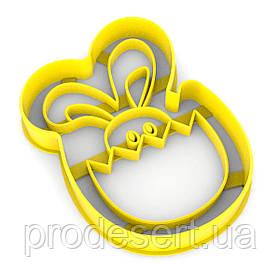 Вирубка для пряників Заєць в шкаралупі 10*6,5 см (3D)