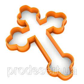 Вирубка для пряників Хрест-1 10*7,4 см (3D)