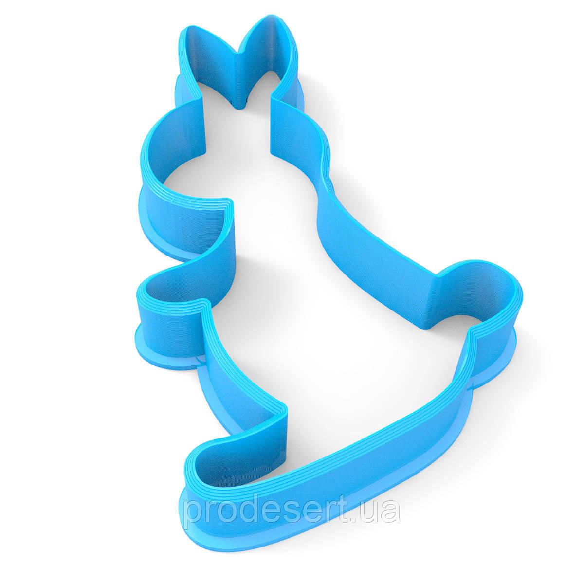 Вирубка для пряників Кролик-2 7,6*4,5 см (3D)