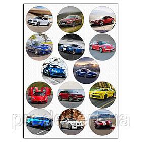 Капкейки-6 см Автомобілі 1 вафельна картинка