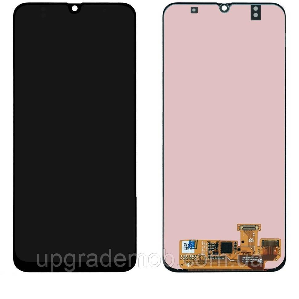Дисплей Samsung A305F Galaxy A30 2019 тачскрин сенсор модуль, черный, OLED, копия хорошего качества
