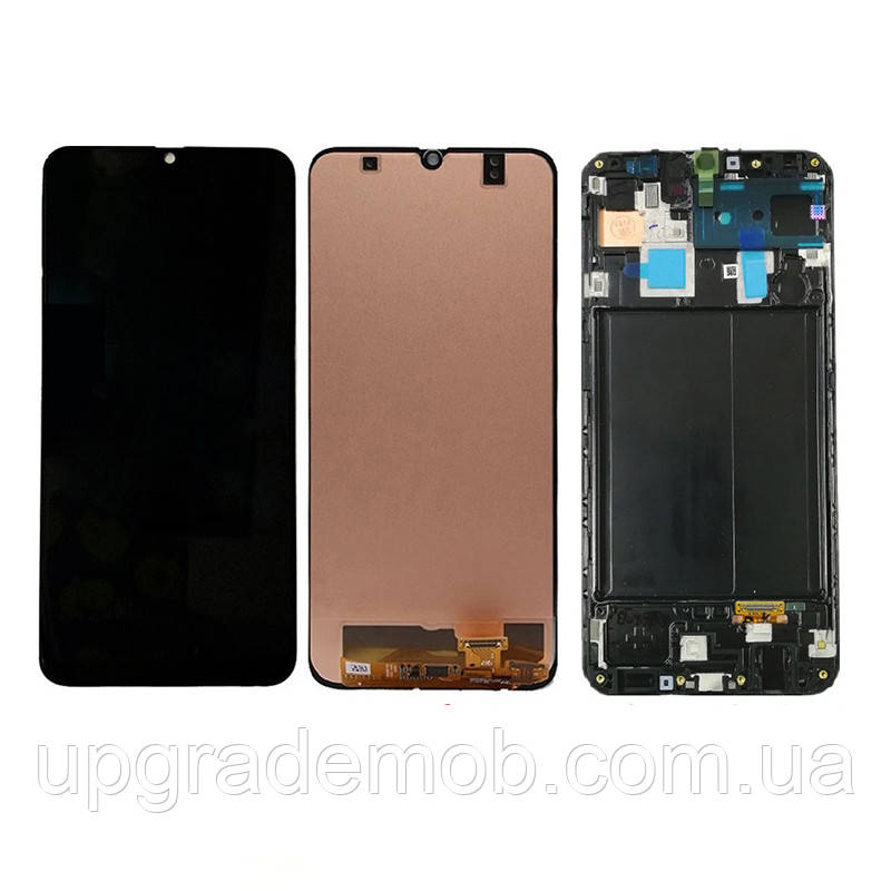 Дисплей Samsung A305F Galaxy A30 2019 тачскрин модуль черный в рамке TFT (In-Cell)