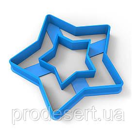 Звезда 1 вырубка для пряников 7*7.3 см (3D)