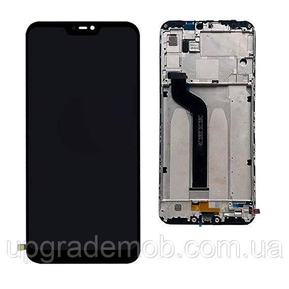 Дисплей Xiaomi Mi A2 Lite/Redmi 6 Pro тачскрин сенсор, черный, в рамке, без датчика приближения