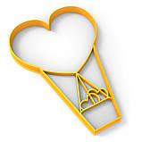 Повітряна куля сердець вирубка для пряників 15*10.5 см (3D), фото 2