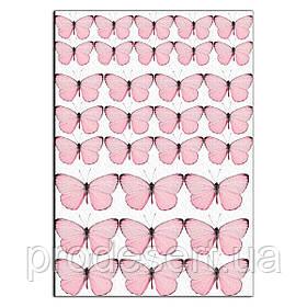 Метелики ніжно-рожеві вафельна картинка