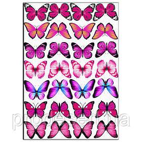 Метелики яскраво-рожеві вафельна картинка